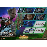 1:6 Avengers 3 : Infinity War - Groot MMS475 / Groot & Rocket Set Figure MMS476 Hot Toys
