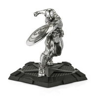 Marvel Comics Captain America First Avenger Diecast Statue Royal Selangor