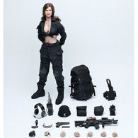 1:6 Female Shooter Black Version Women Soldier Custom Figure VCF-2029 VeryCool Toys