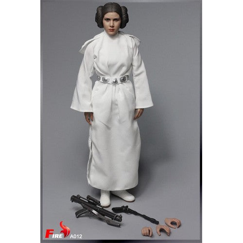 1:6 Princess Leia Female Custom Set (Outfit + Head sculpt and Weapons only)