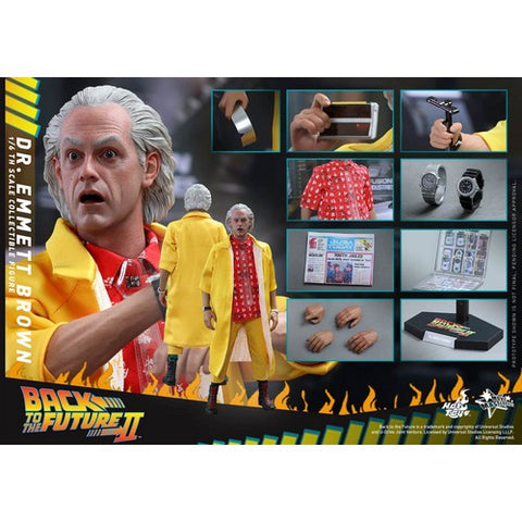 1:6 Back to the Future 2 - Dr Emmett Brown Figure MMS380 Standard / Special Edition Hot Toys