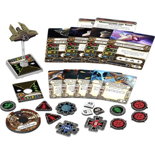 Star Wars : X-Wing Miniatures Game - M3-A INTERCEPTOR Expansion Packk Fantasy Flight