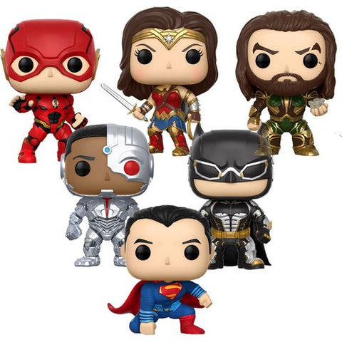 Justice League Team Bundle of 6 Pop vinyl Figure Funko