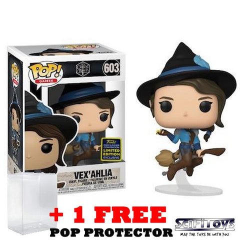 Critical Role - Vex Ahlia on Broom #603 Pop Vinyl Funko SDCC 2020 Exclusive
