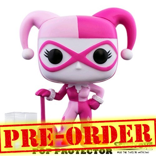(PREORDER) DC - Harley Quinn in Pink Breast Cancer Awareness Pop Vinyl Funko
