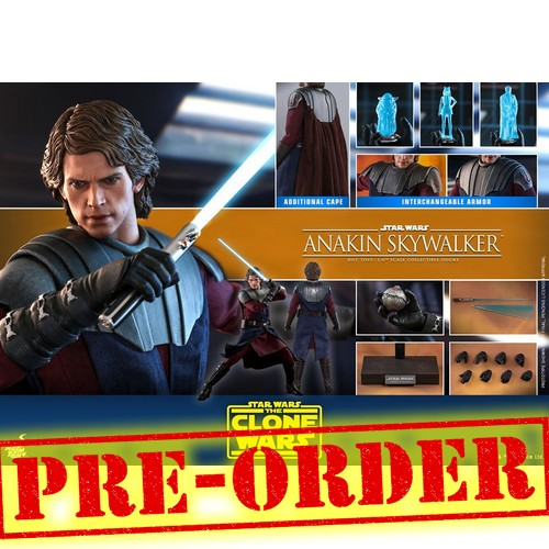 (PREORDER) 1:6 Star Wars : The Clone Wars - Anakin Skywalker Figure TMS019 Hot Toys