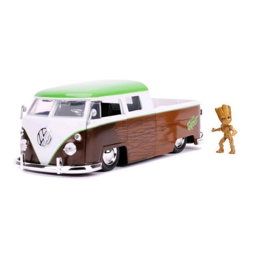 1:24 Marvel : Guardians of the Galaxy 2 - Diecast 1962 Volkswagon Bus with Groot Hollywood Ride Jada Toys
