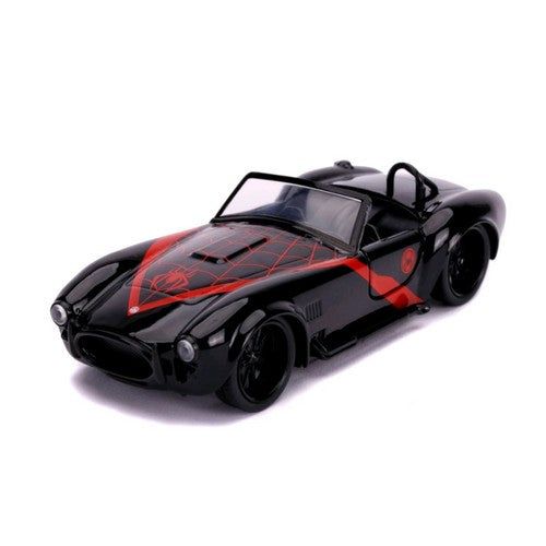 1:32 Marvel : Spider-Man - Miles Morales 1965 Shelby Cobra Hollywood Ride Jada Toys