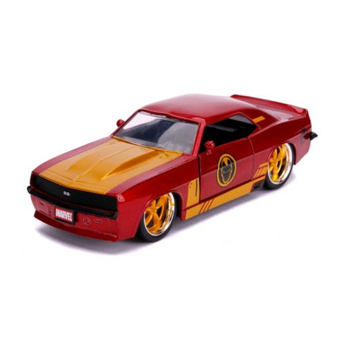 1:32 Marvel : Iron Man - 1969 Chevy Camaro Hollywood Ride Jada Toys