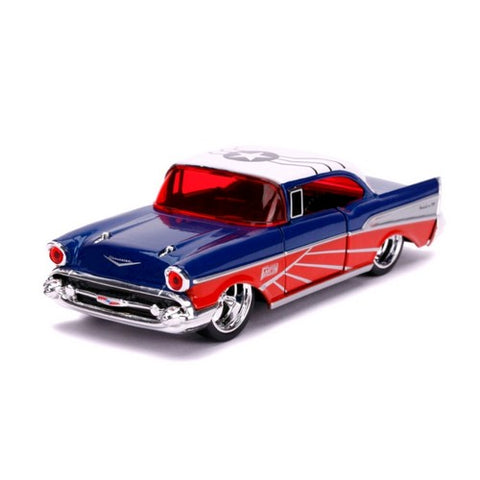 1:32 Marvel : Captain America - Falcon 1957 Chevy Bel-Air Hollywood Ride Jada Toys