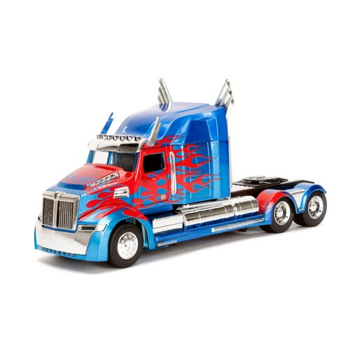 (BACKORDER) 1:24 Transformers - Optimus Prime Western Star 5700 XE Phantom Hollywood Ride Jada Toys