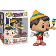 Disney : Pinocchio - Pinocchio with Jiminy Cricket #617 Pop Vinyl Funko Exclusive