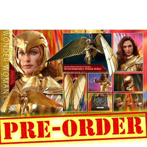 (PREORDER) 1:6 DC : Wonder Woman 1984 - Wonder Woman in Golden Armor Gal Gadot DELUXE Figure MMS578 Hot Toys