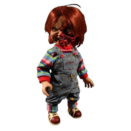 "15"" Child's Play 3 - Chucky Pizza Face Mega Scale Talking Figure Mezco Toyz"