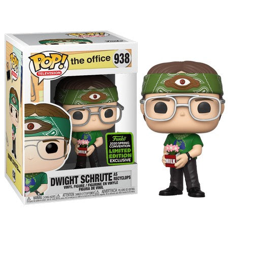 The Office - Dwight Schrute as Recyclops #938 Pop Vinyl Funko ECCC 2020 Spring Convention Exclusive