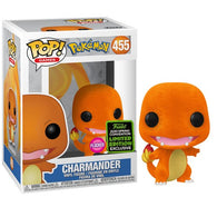 Pokemon - Charmander Flocked #455 Pop Vinyl Funko ECCC 2020 Spring Convention Exclusive
