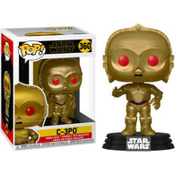 Star Wars Episode IX : Rise of Skywalker- C-3PO Red Eyes Metallic Pop Vinyl Funko
