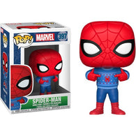 Marvel - Spider-Man with Ugly Sweater Christmas Holiday #397 Pop Vinyl Funko