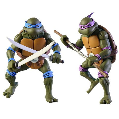 1/10 Teenage Mutant Ninja Turtles -  Leonardo & Donatello Figure 2 Pack Set NECA