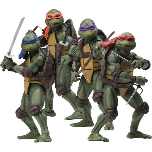 "1:10 7"" Teenage Mutant Ninja Turtles 1990 Figures Neca"