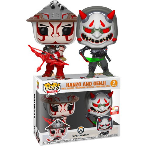 Overwatch - Hanzo & Genji #2 Pop Vinyl Funko E3 2019 Convention Exclusive