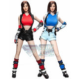 1:6 Tekken - Asuka Blue / Red Combat Suit Female Custom Figure Set (Outfit + Headsculpt Only) Cat Toys