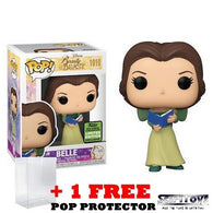 Disney : Beauty and the Beast 30th Anniversary - Belle in Green Dress w/ Book #1010 Pop Vinyl Funko ECCC 2021 Spring Convention Exclusive