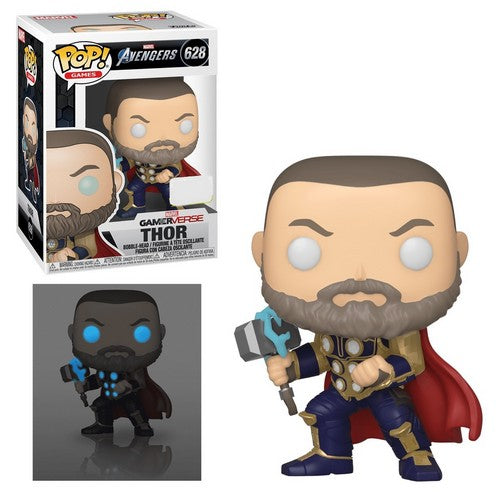 Marvel : Avengers Video Game 2020 - Thor Glow in the Dark Pop Vinyl Funko Exclusive