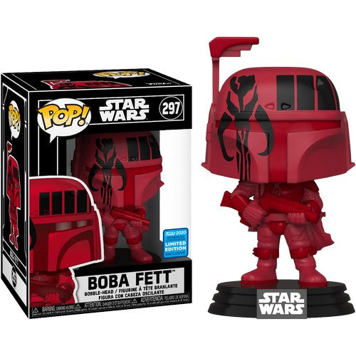Star Wars - Boba Fett Mandalorian Symbol in Pop Protector #297 Pop Vinyl Funko Wonder Con 2020 Exclusive (LAST CHANCE)