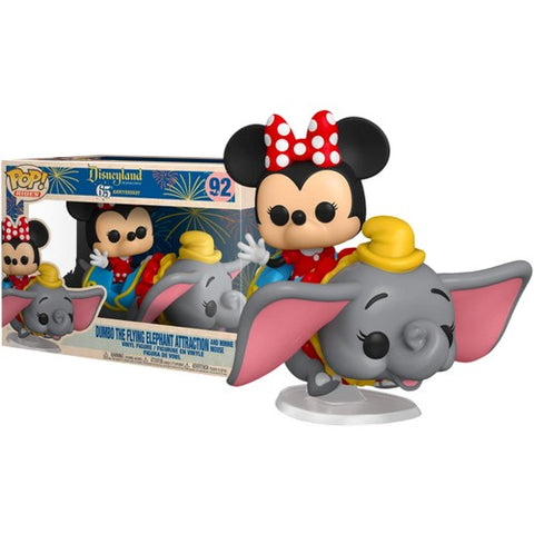 Disneyland 65th Anniversary - Minnie Mouse and Dumbo the Flying Elephant Attraction #92 Pop Rides Vinyl Figure Funko Exclusive