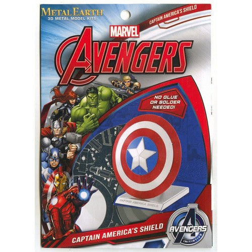 The Avengers - Captain America's Shield Miniature 3D Metal Earth DIY Model Kit