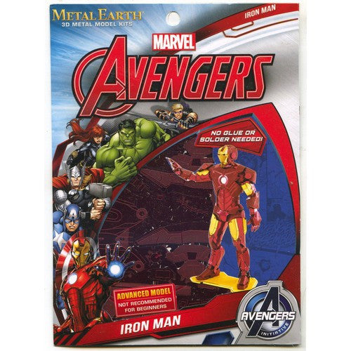 The Avengers - Iron Man Mark 6 Miniature 3D Metal Earth DIY Model Kit Series 1