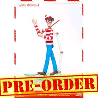 "(PREORDER) 1:12 6"" Where's Wally? - Wally Figure with Book Diorama Megahero Series Blitzway"