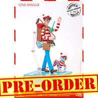 "(PREORDER) 1:12 6"" Where's Wally? - Wally Deluxe Figure with Woof & Book Diorama Megahero Series Blitzway"