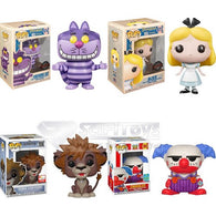 Disney Mix Bundle - Alice Cheshire Cat Sora Lion Form Chuckles Pop Vinyl Figure Funko Exclusive