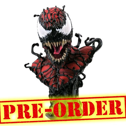 (PREORDER) 1:2 Spider-Man - Carnage Legends 3D Bust Diamond Select Toys