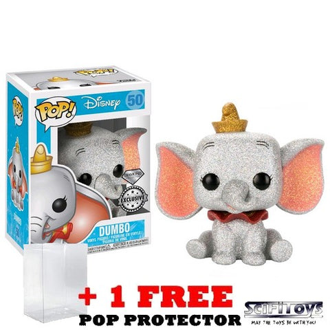 Disney - Dumbo Diamond Glitter #50 Pop Vinyl Figure Funko Exclusive