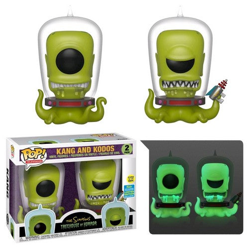 Simpsons - Kang & Kodos Glow in the Dark 2 Pack Pop Vinyl Funko SDCC 2019 Exclusive
