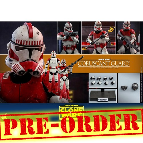 (PREORDER) 1:6 Star Wars : The Clone Wars - Coruscant Guard Figure TMS025 Hot Toys