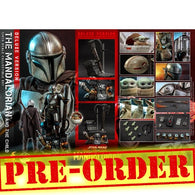(PREORDER) 1:4 Star Wars : The Mandalorian - Mandalorian & The Child Baby Yoda DELUXE Figure QS017 Hot Toys