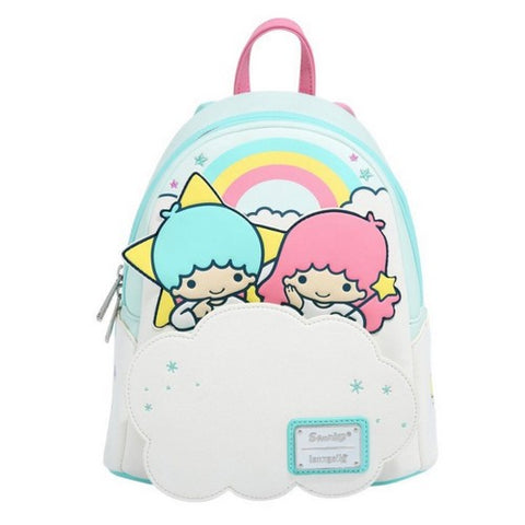 Sanrio : Little Twin Stars - Kiki and Lala on Cloud Mini Backpack Bag Loungefly