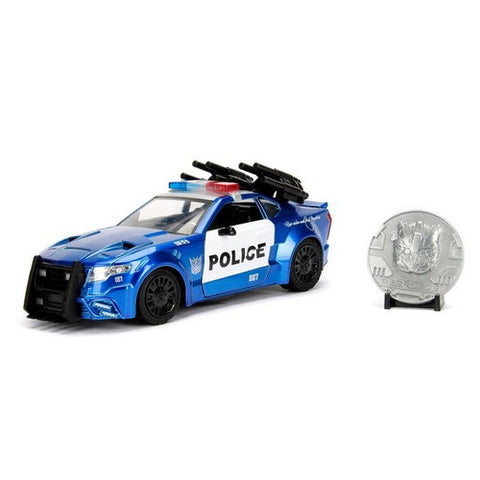 1:24 Transformers 5 : The Last Knight - Diecast Ford Mustang Barricade Hollywood Rides with Coin Jada Toys