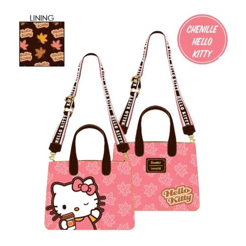 Hello Kitty - Pumpkin Spice Latte Wave Chenille Crossbody Loungefly