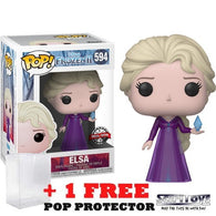 Frozen 2 - Elsa in Nightgown with Crystal #594 Pop Vinyl Funko Exclusive