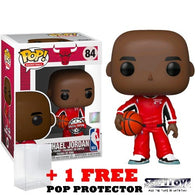NBA : Chicago Bulls - Michael Jordan in Red Warm-up Suit #84 Pop Vinyl Funko Exclusive