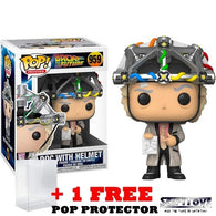 Back to the Future - Dr. Emmett Brown with Helmet #959 Pop Vinyl Figure Funko