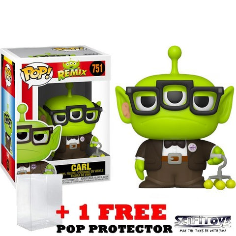 Disney Pixar : Toy Story - Alien Remix in Up Carl Outfit #751 Pop Vinyl Funko