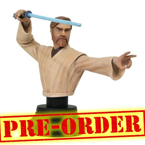(PREORDER) 1:7 Star Wars : The Clone Wars - Obi-Wan Kenobi Bust Statue Diamond Select Toys