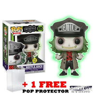 Beetlejuice with Guide Outfit #605 Glow in the Dark Pop Vinyl Figure Funko