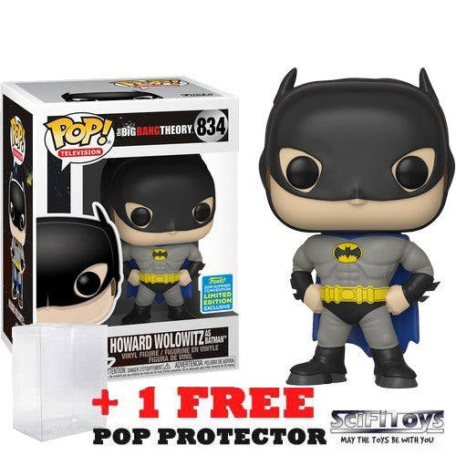 Big Bang Theory - Howard Wolowitz as Batman #834 Pop Vinyl Funko SDCC 2019 Exclusive